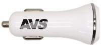 Автомобильное зарядное устройство 2 порта USB по 1200 мА AVS UC-322