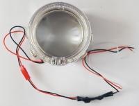 """Биксеноновые линзы 2,5"""" AutoPower APH12.5 Morimoto mini H1 + маски с LED кольцами """"ангельский глаз"""" (пара)"""