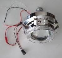 """Биксеноновые линзы 3.0"""" AutoPower APH13.0 Morimoto G6 H1 + маски CAY/A1 с LED кольцами """"ангельские глазки"""" (пара)"""