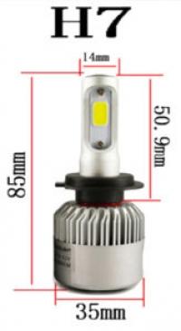Светодиодные лампы LED H7 Runoauto S2 COB 6000К (пара)