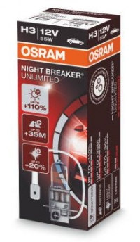 Галогеновая лампа H3 OSRAM NIGHT BREAKER UNLIMITED