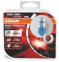 Пара галогеновых ламп H4 OSRAM NIGHT BREAKER LASER
